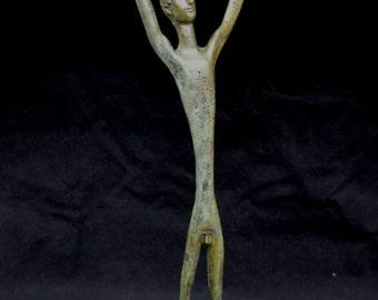 Discus Athlete Hellenistic reenactment great bronze statue