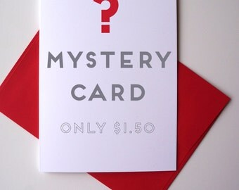 Mystery Card Only 1.50! FREE SHIPPING
