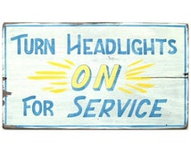 Vintage Inspired Sign, Hand Painted, Distressed, Drive-in