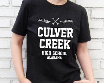 Culver Creek High School Alabama -  Black T-Shirt – Screen Printed 100% Cotton.