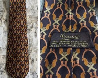 Vintage Gucci tie. Vintage tie. Gucci necktie.