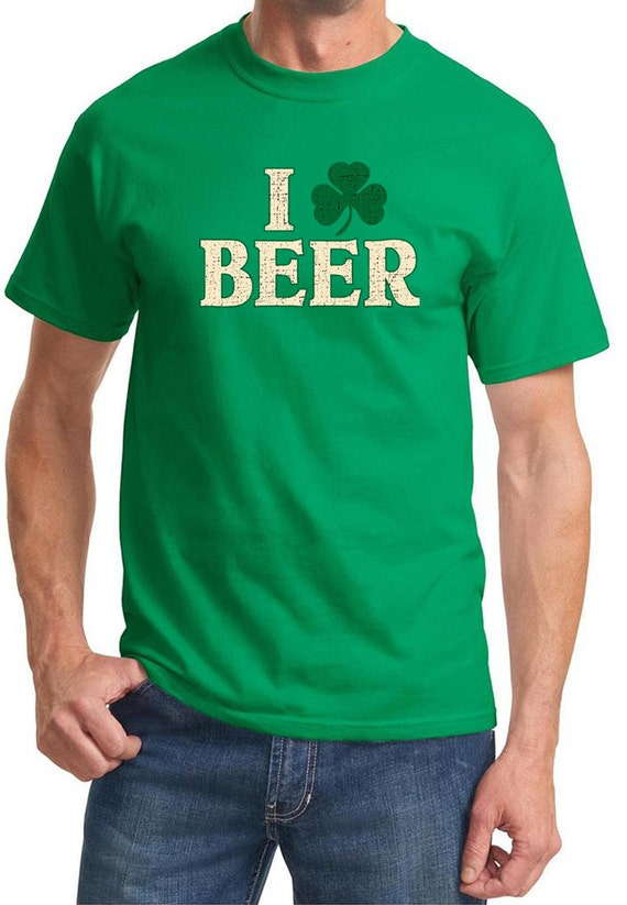 St patrick 39 s day shirt i love beer men 39 s tee for I love beer t shirt