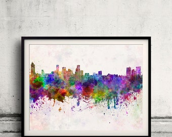 Baltimore skyline in watercolor background 8x10 in to 12x16 Poster Digital Wall art Illustration Print Art Decorative  - SKU 0138