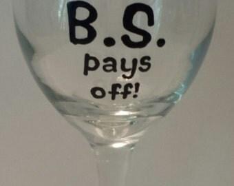 Graduation wineglass