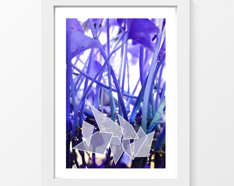 """Nenuphar / Water plant violet printable art wall art home decor downloadable art to print at home or at a print shop / A4 and 8.5"""" x 11"""""""