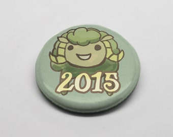 Happy Year of the Ram (or Sheep) 1.25'' (inches) Pinback Button for 2015 Chinese New Year