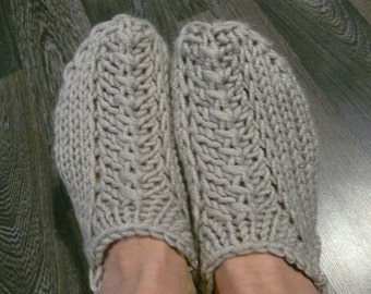 Hand Knitted slippers women