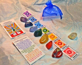 Set of 7 Healing Chakra Stones, hand chosen for you!