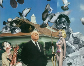 Alfred Hitchcock - collage art