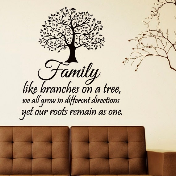 Family Tree Wall Decor Images : Family wall decal quotes like branches on by