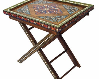 Solid wood coffee table tea table orient Trolley Folding table Tray table laptop table No_A