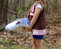 Cowgirl Vest / Sheriff Vest / Cowgirl Costume / Handmade Sheriff Callie Costume / Great for Cowgirl Birthdays!