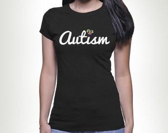LOVE Autism Puzzle Piece T-shirt Tshirt Tee shirt Tee Autistic Support Educate Advocate Love Autism Awareness Month April Spectrum MB59