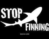 SALE Medium Stop Shark Finning tShirt