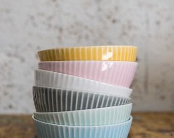 Ceramic Bowl Set of 4, Small Ceramic Bowl, Ceramic Set Bowl, Dessert Bowl, Soup Bowl, Salad Bowl, Cereal Bowl, READY TO SHIP!!