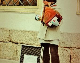 Accordion Street Player, Regensburg,Germany ............printed on enhanced matte paper