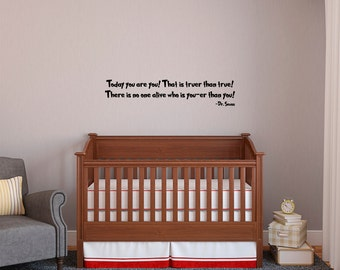 "Dr Seuss Wall Decal Wall Quote Sticker (36"" x 7.3"") Kids Room Gift Ideas"