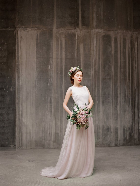 Ulyana bohemian wedding dress wedding gown boho wedding for Romantic bohemian wedding dresses