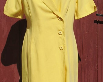 1980S The Legend Mellow Yellow Crossover dress