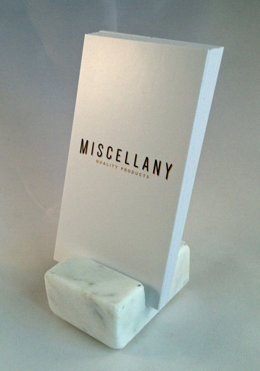 Vertical Business Card Holder made from White by