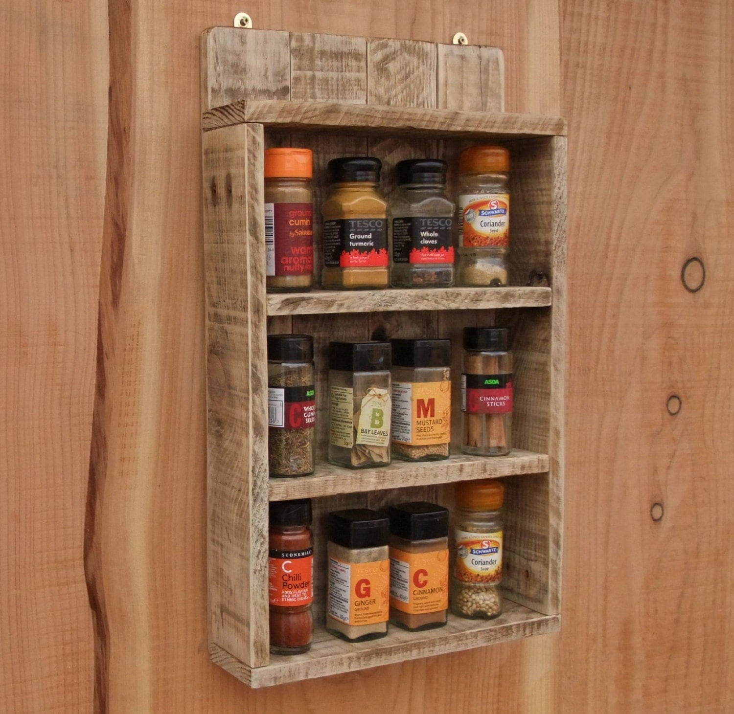 rustic spice shelf kitchen spice rack cabinet made from