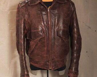 Vintage 40's horsehide leather jacket