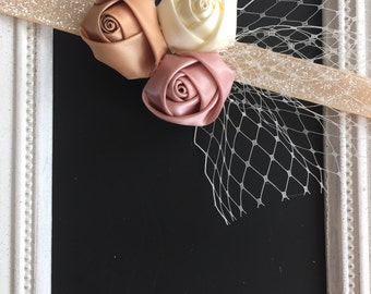 Satin rosette hairband