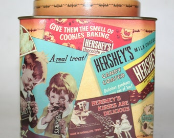 Hershey's Chocolate canister Vintage Edition.Tin canister.
