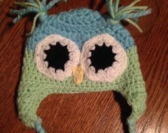 Newborn crochet Owl hat