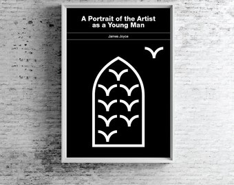 James Joyce Poster, A Portrait of the Artist as a Young Man Poster Minimalist Poster
