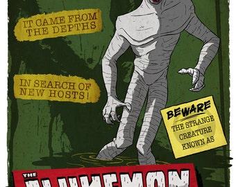 X-Files Art Print - Beware The Flukeman