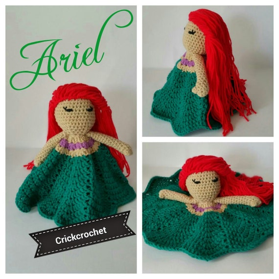 Amigurumi Disney Princess : Amigurumi Ariel the little mermaid Disney princess Security