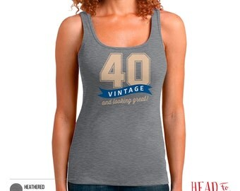 40th Birthday, 40th Birthday Gift, 40th Birthday Party, 1976 Birthday, 40 Birthday, Tank Top, 40th, 40, 40th Birthday Shirt, 40 years old!