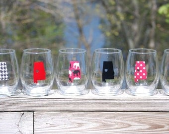 Alabama wine glasses
