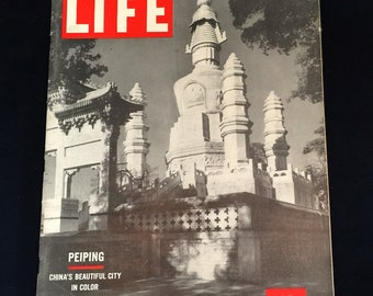 1946 Life Magazine: Post War Issue on China                                                                      VG1346