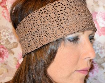 Brown Thick Headband