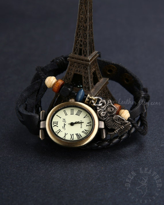 wrap watches womens vintage leather bracelet by