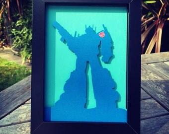 Optimus Prime - Framed Handmade Cutout