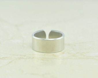 6 Polished 14 Gauge Heavy Weight Food Safe Aluminum Ring Blanks - 6 FLAT Ring Blanks