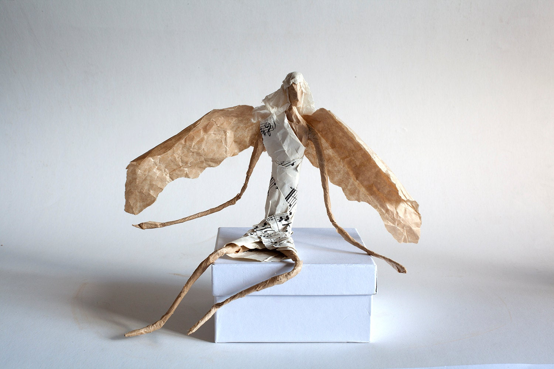 angel decor figurine draht dekor engelsfigur angel wings. Black Bedroom Furniture Sets. Home Design Ideas