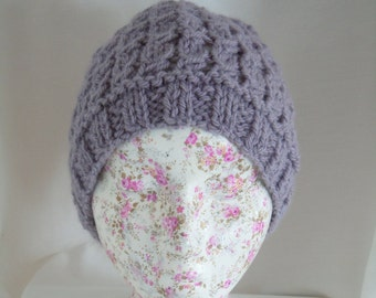 Ladies Hand Knitted Chunky Hat