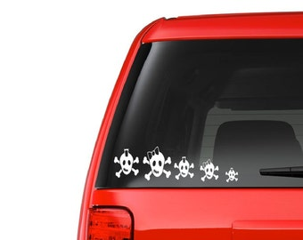Skull Family (F13) Vinyl Decal Sticker Car/Truck Laptop/Netbook Window
