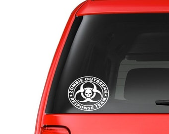 Zombie Outbreak (M11) Vinyl Decal Sticker Car/Truck Laptop/Netbook Window