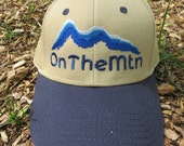 OnTheMtn Hat - Khaki with Blue Bill