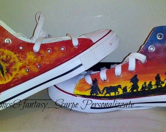 LOTR Custom Shoes-custom shoes the Lord of the rings