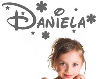 Children's vinyl name custom Daniela
