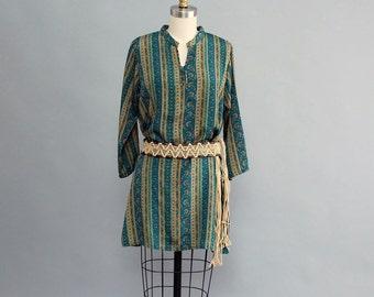 sale Biba tunic dress . bohemian shift dress . boho tunic dress . Indian inspired patterned dress . womens medium large