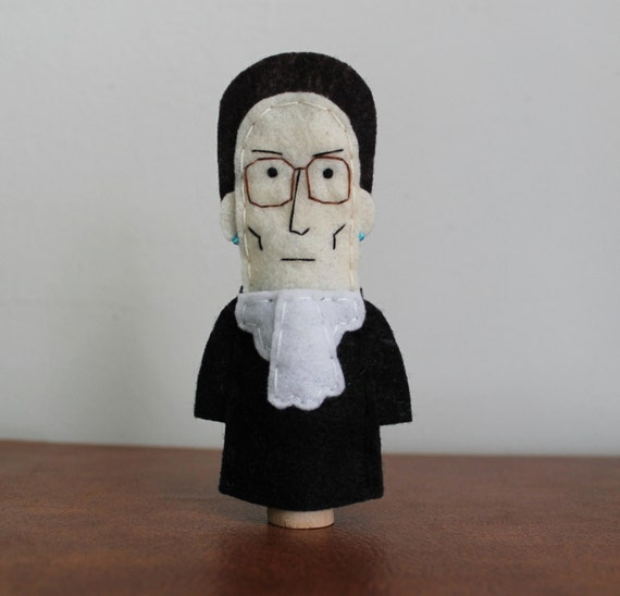 Ruth Bader Ginsburg Finger Puppet - Free shipping!