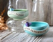 Small Personalized Birthday Bird Bowl - 4 to 6 Weeks for Delivery