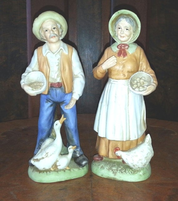 Homco home interiors elderly couple figurines god 39 s Home interiors figurines homco